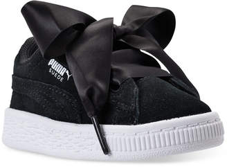 Puma Toddler Girls' Suede Heart Casual Sneakers from Finish Line $54.99 thestylecure.com
