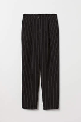 H&M Wide-leg Pants - Black