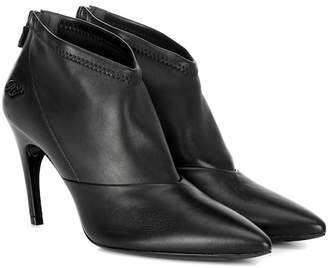 Roger Vivier Choc Real V leather ankle boots