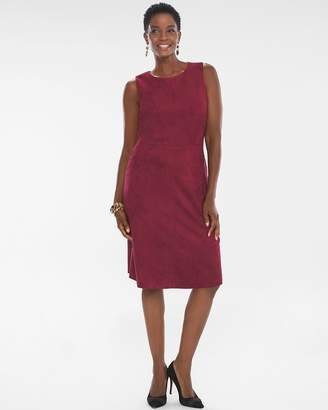 Chico's Chicos Sueded Sheath Dress