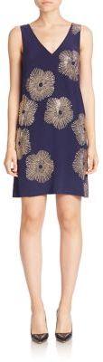 Trina Turk Glitterati Embellished Silk Shift Dress $368 thestylecure.com