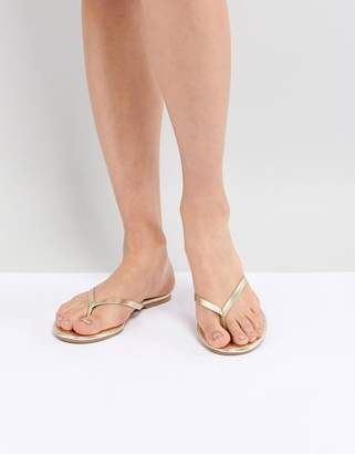 New Look Leather Flip Flops