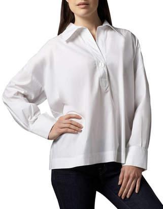 Go Silk Petite Oversize Long-Sleeve Stretch Shirt
