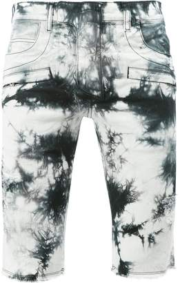 Balmain tie dye denim shorts