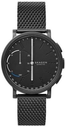 Skagen Hagen Connected Mesh Strap Hybrid Smart Watch, 42Mm $225 thestylecure.com