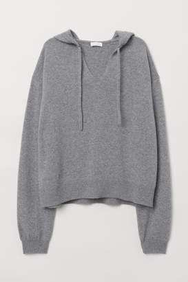 H&M Chenille Hooded Sweater - Gray