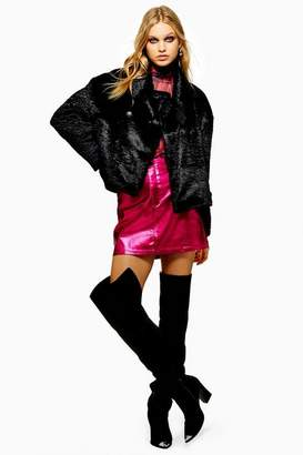 Topshop Womens Metallic Skirt