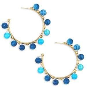 Rosantica Dada Blue Bead Hoop Earrings