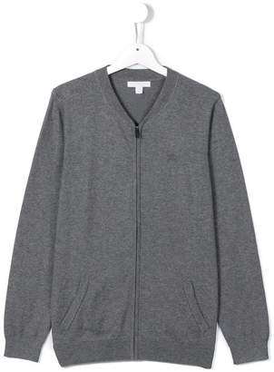 Burberry Check Elbow Patch Bomber Cardigan