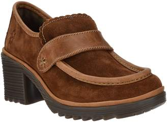 Fly London Suede Loafers with Leather Trim - Wend