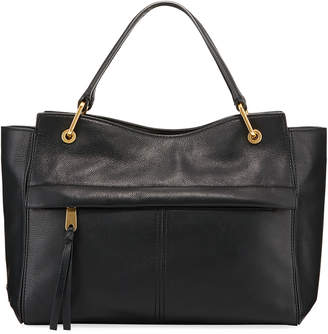 Cole Haan Kathlyn Leather Zip-Top Satchel Bag, Black