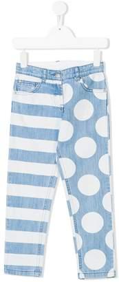 Stella McCartney dots & stripes skinny jeans