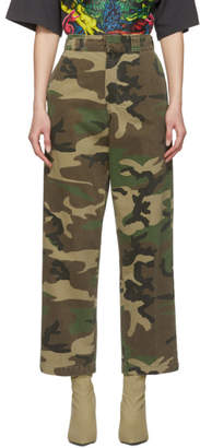 R 13 Khaki Camouflage Slouch Trousers