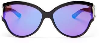 663f9007bc Balenciaga Ski Reflective Cat Eye Sunglasses - Womens - Purple