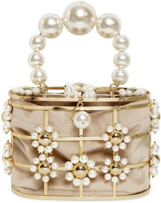 Rosantica Lennon Pearls Top Handle Bag