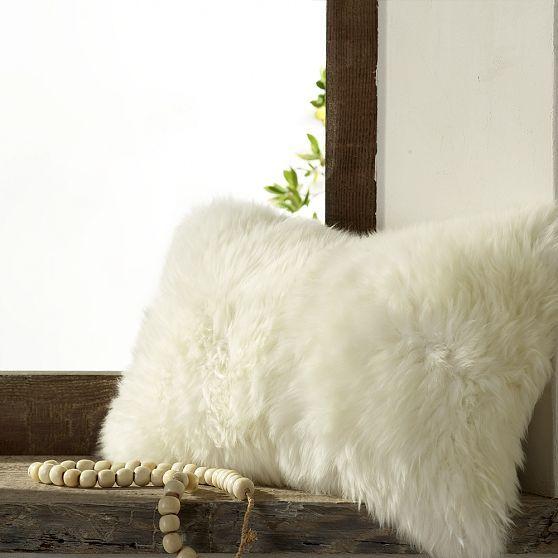 Sheepskin Pillow Cover