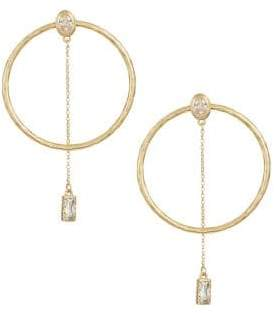 Kate Spade Elegant Edge Crystal Hoop Earrings