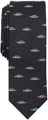 Bar III Men's Classic Cadillac Motif Skinny Tie