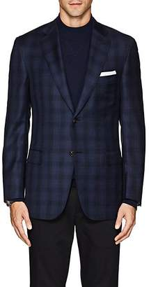Brioni Men's Ravello Plaid Wool Twill Two-Button Sportcoat - Navy