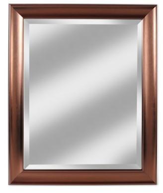 "Alpine Art & Mirror Deco Bronze 28"" x 34"" Beveled Glass Wall Mirror"