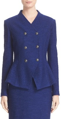 Women's St. John Collection Catalina Double Breasted Knit Jacket $1,395 thestylecure.com