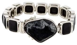 Stephen Dweck Druzy & Onyx Link Bracelet