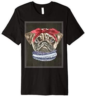 Pug Headband Scarf Tshirt