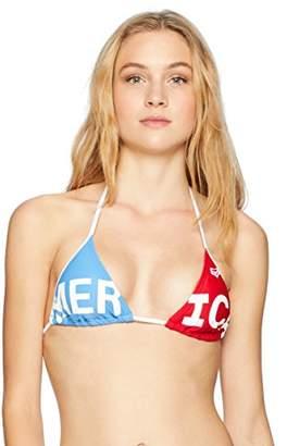 Fox Junior's Merica Slim Coverage Triangle Swim Top