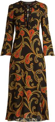 Etro Rosolite paisley-print tie-neck dress