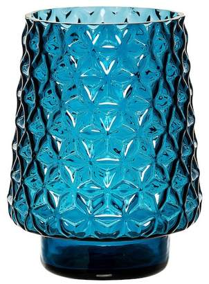 BLOOMINGVILLE Blue Textured Glass Vase