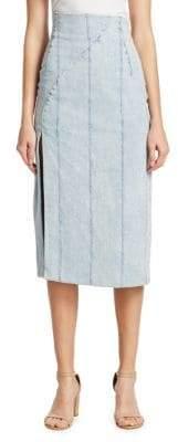 ADAM by Adam Lippes Structured Denim Hi-Rise Skirt