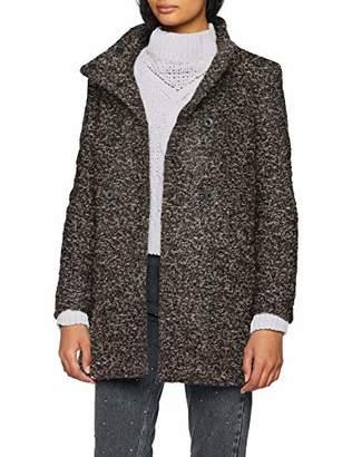 9167627cf11b Only Women's Onlsophia Boucle Wool Coat Cc OTW Dark Grey Melange, (Size: )