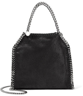 Stella McCartney - The Falabella Tiny Faux Brushed-leather Shoulder Bag - Black $870 thestylecure.com