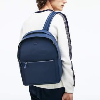 Lacoste Men's Chantaco Matte Pique Leather Backpack