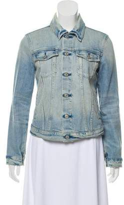 7 For All Mankind Seven Light-Wash Denim Jacket
