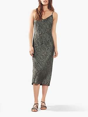 Mint Velvet Leopard Slip Dress, Multi