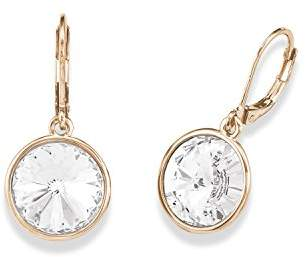 Swarovski Noelani Women's Earrings Partially Gold-Plated Brass Rose Gold Plated Elements Crystal White 565790