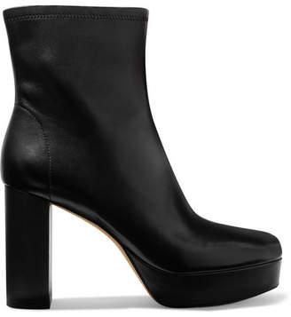 Diane von Furstenberg Yasmine Leather Platform Ankle Boots - Black