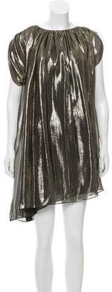Lanvin Silk Metallic Dress