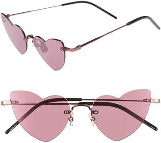 Saint Laurent 50mm Rimless Heart Shaped Sunglasses