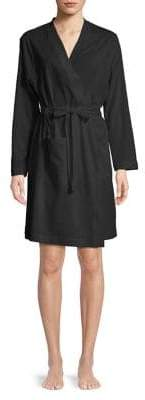 Lord & Taylor Plus Cotton Self Tie Robe