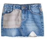 MANGO Combined denim skirt