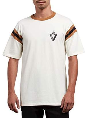 Volcom Men's Wagners Knit Crew Short Sleeve Vintage Inspired Shirt
