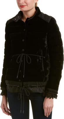 Moncler Beatrice Velvet Quilted Jacket