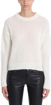Laneus Beige Mohair Wool Sweater