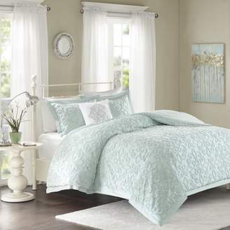 Home Essence Amber Cotton 4 Piece Tufted Chenille Comforter Set