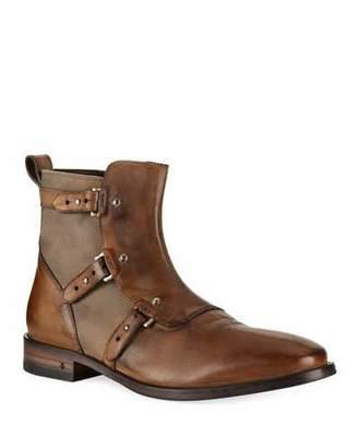 John Varvatos Men's Fleetwood Leather Pin Strap Boots