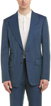Tom Ford Shelton 2Pc Linen , Silk, & Wool-Blend Suit With Flat Pant