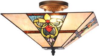 Tiffany & Co. Emporium Square Floral Ceiling Lamp