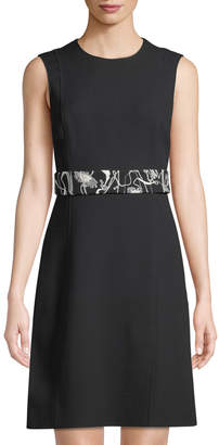 Jason Wu Belted Crepe A-Line Dress